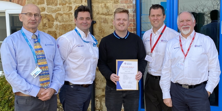 Mark Long receives team leader accreditation from Sharing in Growth productivity programme
